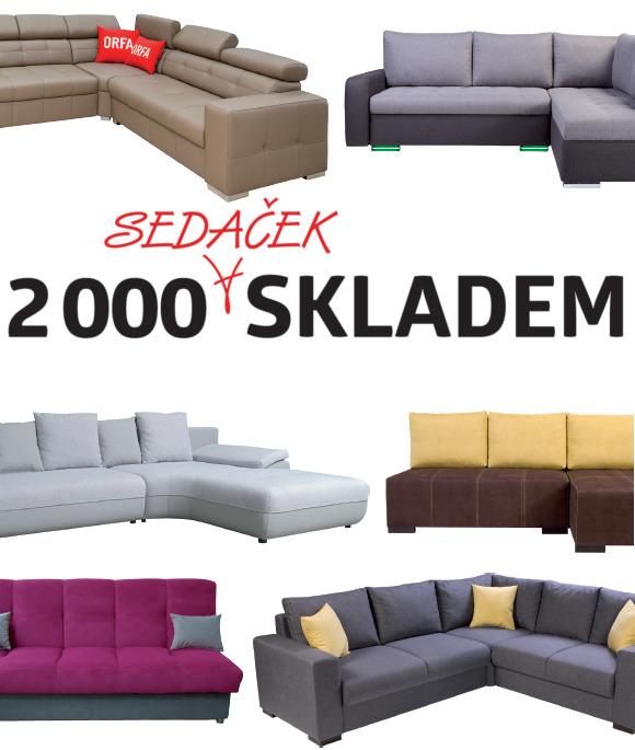 ORFA nábytek 2000 sedaček skladem