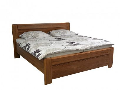 Elizabet 2 Dřevěná postel 180 cm, ořech tmavý
