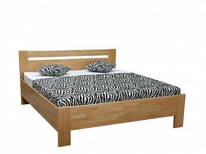 Matěj 2 Lux, Masivní postel 180 cm, buk