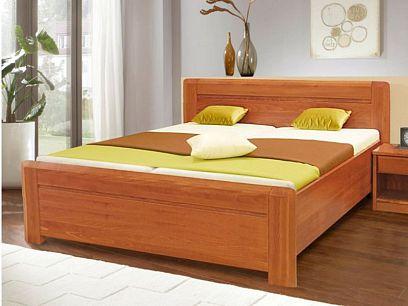 Elizabet Dřevěná postel 180 cm, višeň