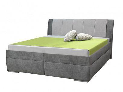 Beata 2 čalouněná postel 180, světle šedá