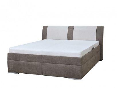 Martina 2 manželská postel, hnědo-béžová