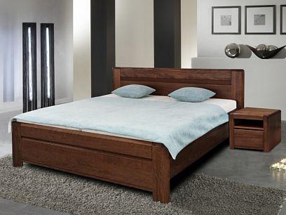 ESTER BV  Dřevěná postel 180 cm, ořech tmavý