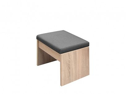 VENEZUELA taburet T60, dub sonoma/šedá