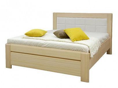 EDISON Dřevěná postel 180 cm, buk/bílá