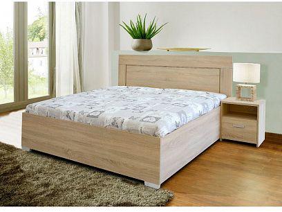DOMINGO Manželská postel 180, dub sonoma