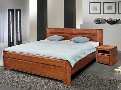 ESTER BV  dřevěná postel 180 cm, višeň