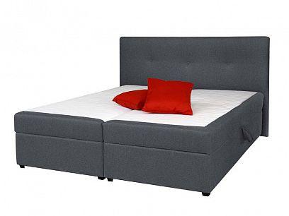 JULIE čalouněná postel 180, šedá