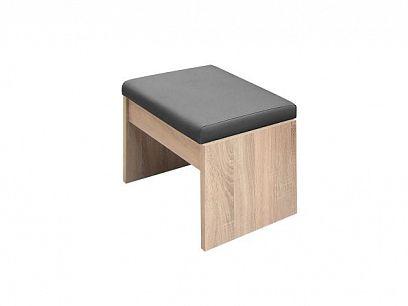 VENEZUELA taburet T60, dub sonoma/grafit