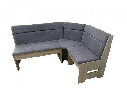 DENIS rohová lavice, dub sonoma/šedá