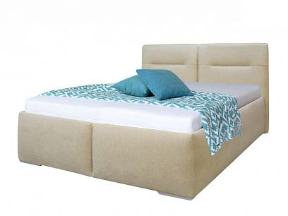 LOUISIANA čalouněná postel 180 cm, béžová