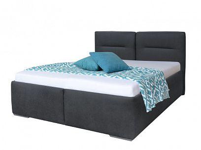 LOUISIANA čalouněná postel 180 cm, grafit