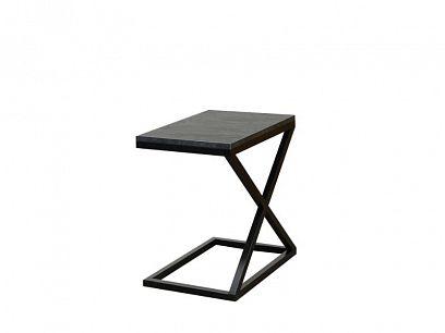 NYX konferenční stolek, mramor uhelný/černý kov