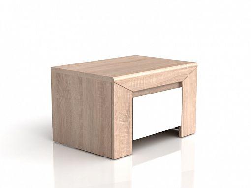 Danton Noční stolek KOM1S Dub sonoma/bílý lesk (laminát)