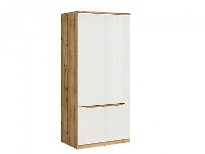 NUIS šatní skříň SZF4D dub wotan/bílý lesk