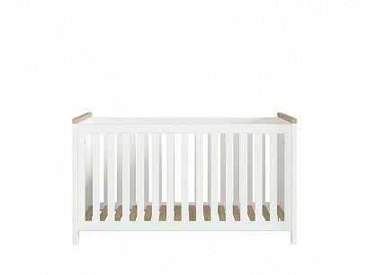 DREVISO BABY dětská postýlka LOZ/140, bílá/dub westminster