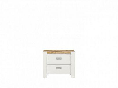 DREVISO  Noční stolek, KOM2S bílá/ westminster/ bílá