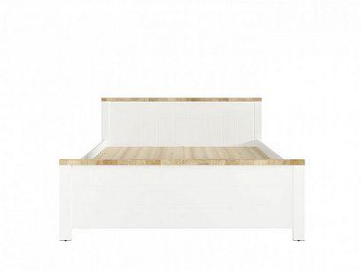 DREVISO LOZ/160 postel 160 cm, bílá/dub westminster