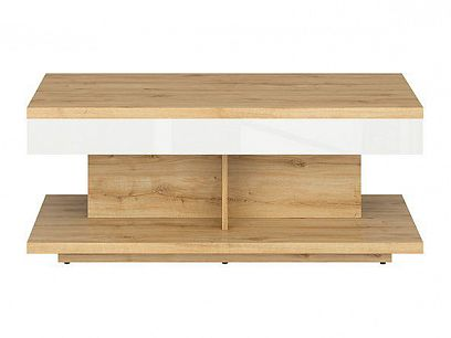 ERLA konferenční stolek LAW/110 dub minerva/bílý lesk
