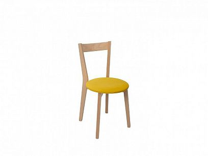 IKKA jídelní židle, dub sonoma/žlutá