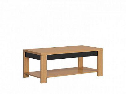 AROSA konferenční stolek LAW/130, dub baltic/černý lesk/dub přírodní