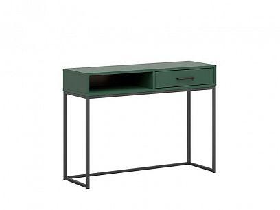 TUMBEN psací stůl TOL1S, zelená/černý kovový rám