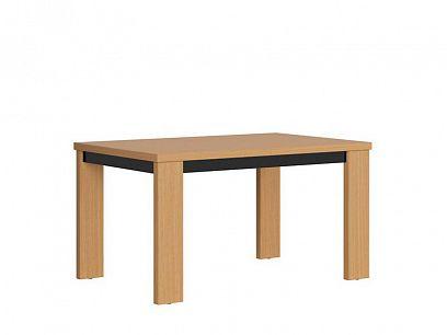 Arosa jídelní stůl STO/140/A, dub baltic/černý lesk/dub přírodní