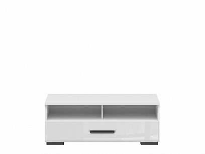 ASSEN televizní stolek RTV1S/4/10, bílá/bílý lesk