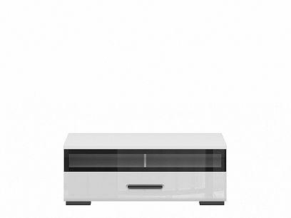 ASSEN televizní stolek RTV1S/4/10_S, bílá/bílý lesk