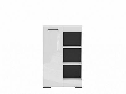 ASSEN skříňka SFK1D/13/8, bílá/bílý lesk