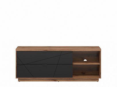 FORN televizní stolek RTV2S, dub delano tmavý/černý mat