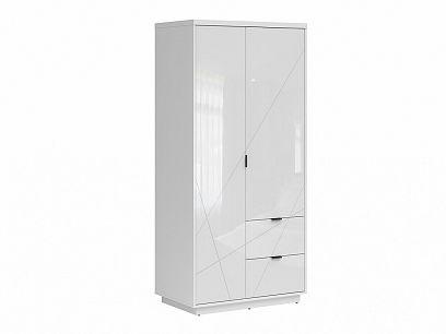 FORN šatní skříň SZF2D2S, bílý lesk