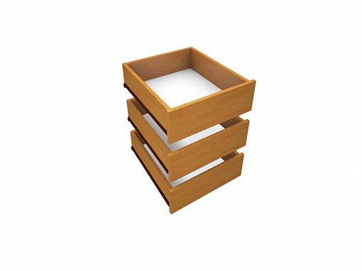 Šuplíky do skříně DUEL3D Olše medová