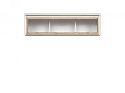 Kaspian vitrína SFW1W/140, bílá/dub sonoma