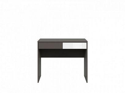 Graphic II Psací stůl BIU2S/C šedý wolfram/bílý vysoký lesk