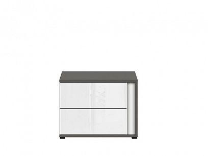 Graphic II Noční stolek KOM2SL/C šedý wolfram/bílý vysoký lesk