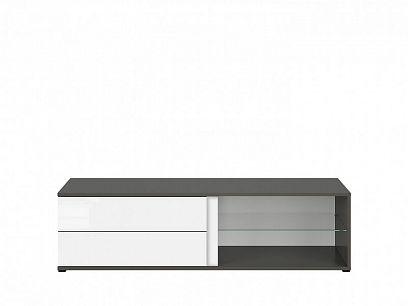 Graphic II Televizní stolek RTV2S/142/A šedý wolfram/bílý lesk