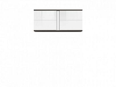 Graphic II závěsná skříňka SFW2D/86/38/A šedý wolfram/bílý lesk