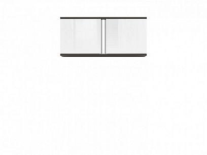 Graphic II závěsná skříňka SFW2D/86/38/C šedý wolfram//bílý vysoký lesk