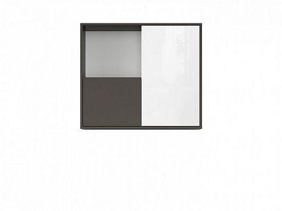 Graphic II Závěsná skříňka SFW2D/86/75/C šedý wolfram/bílý vysoký lesk
