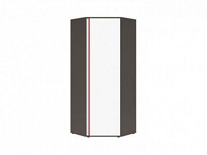 Graphic II Skříň SZFN1D/B šedý wolfram/bílá/červená