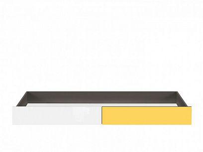 Graphic II Šuplík SZU/C, šedý wolfram/žlutá/bílý vysoký lesk