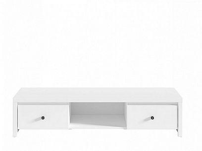 Karet Televizní stolek RTV2S, Úchyt černý, Bílá
