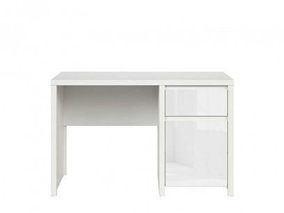 Kaspian psací stůl BIU1D1S/120, bílá/bílý lesk