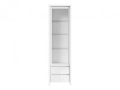 Kaspian vitrína REG1W2S, bílá/bílý lesk