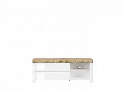 HOLTEN Televizní stolek RTV2S, dub wotan/bílý lesk