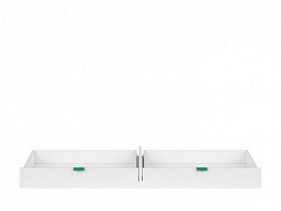PRINCETON SZU/BIU šuplík do psacího stolu, bílý lesk/zelená