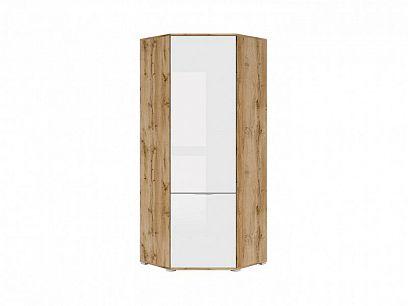 Zele Šatní skříň SZFN1D, dub wotan/bílý lesk
