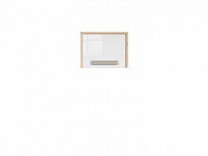 NAMEK závěsná skříň SFW1D, buk iconic/bílý lesk/šedá