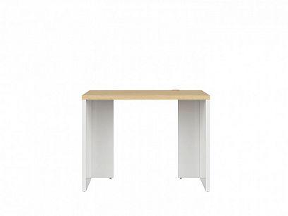 DENTON psací stůl BIU/100, bílý lesk/dub polský